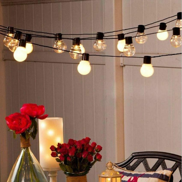 31 FT STARTER SET WARM WHITE MILKY PARTY CONNECT 1 STRING OF 20 BULBS