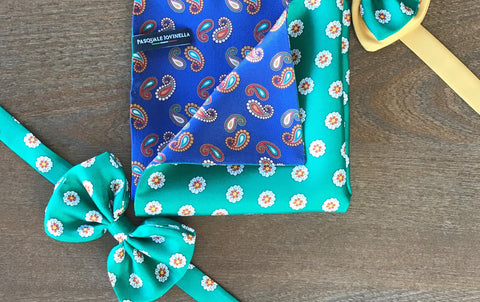 bowtie and pocket square gift set
