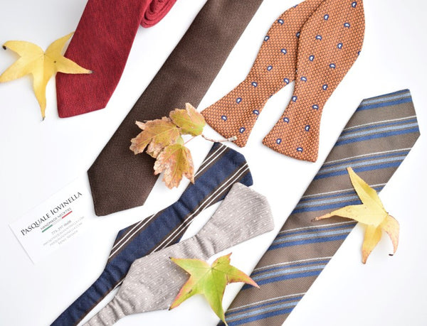 Fall color neckties and bowties