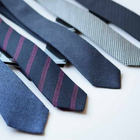 Various wool neckties