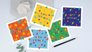 pack of childrens birthday cards