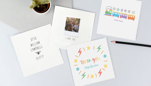 an image of four of our personalised cards