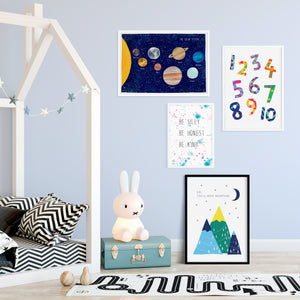 Bright and colourful prints for children