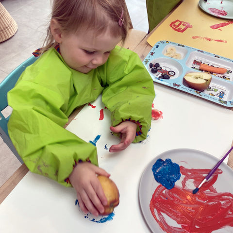 A Fun Weekend Activity For The Kids - Fruit and Veg Print Monsters