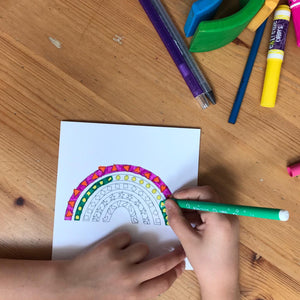 Colour in rainbow cards