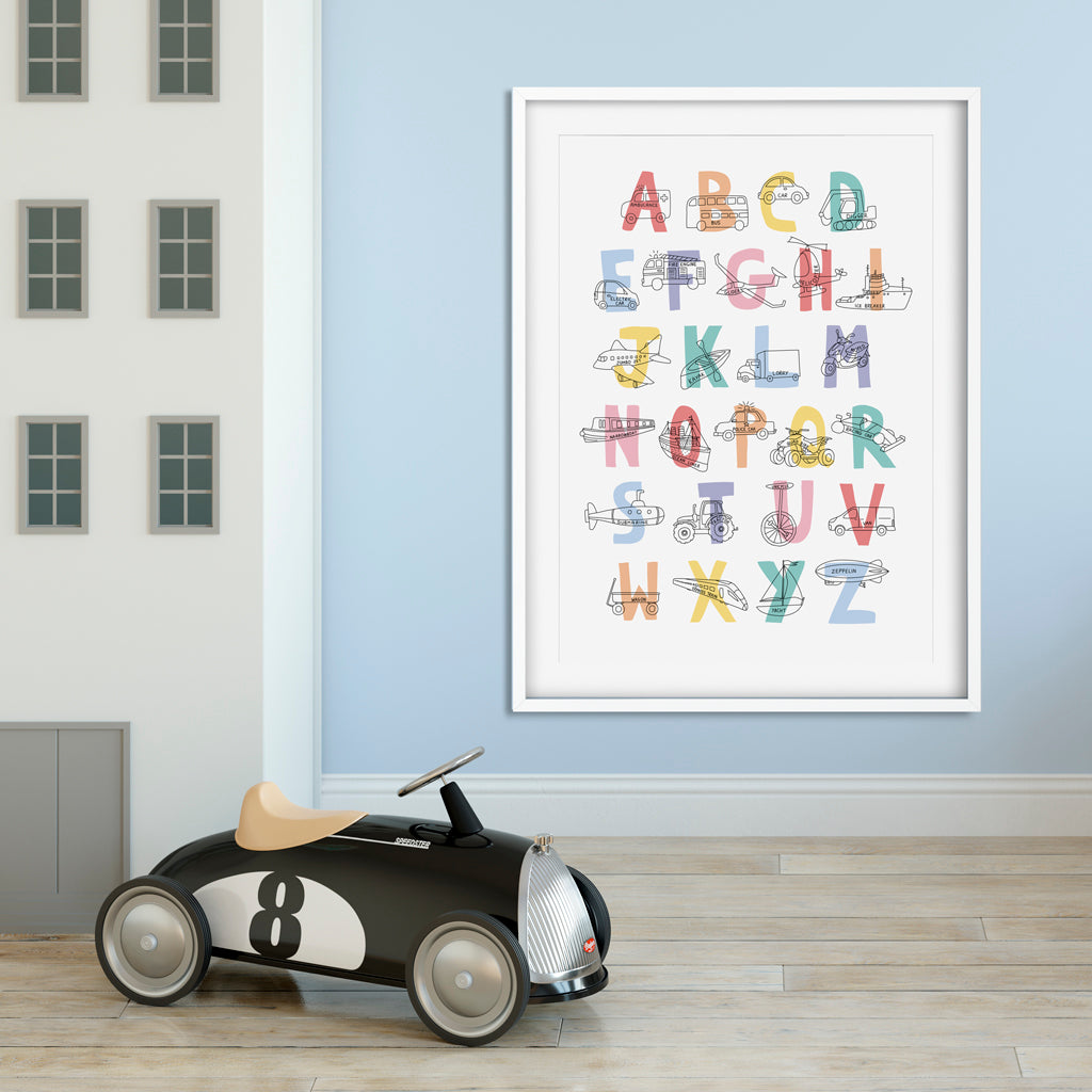 A-Z Transport Print (Unframed)