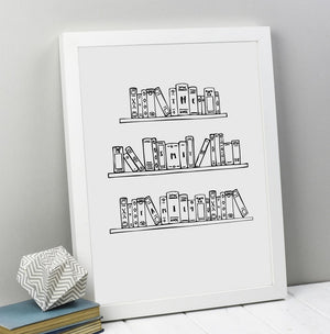 Personalised Family Books Print (Unframed)