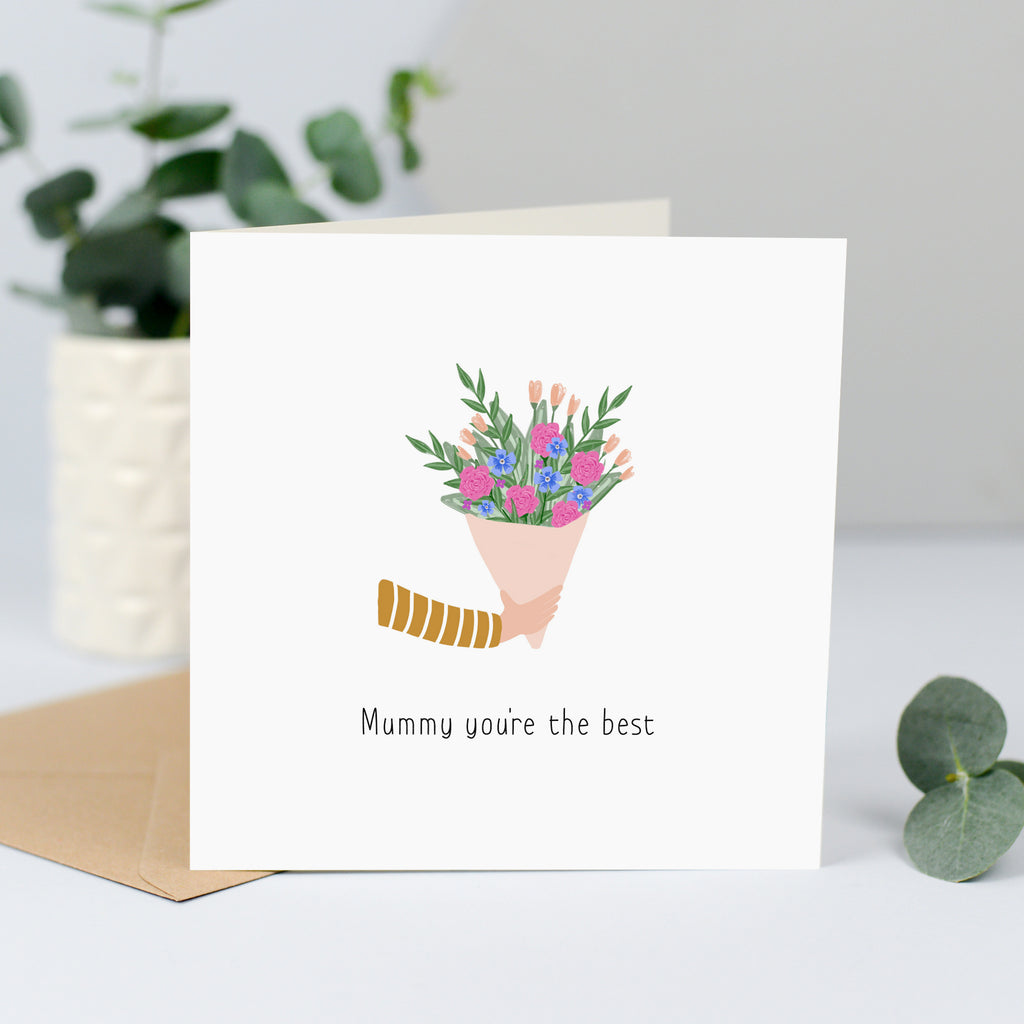 best mummy card with flowers