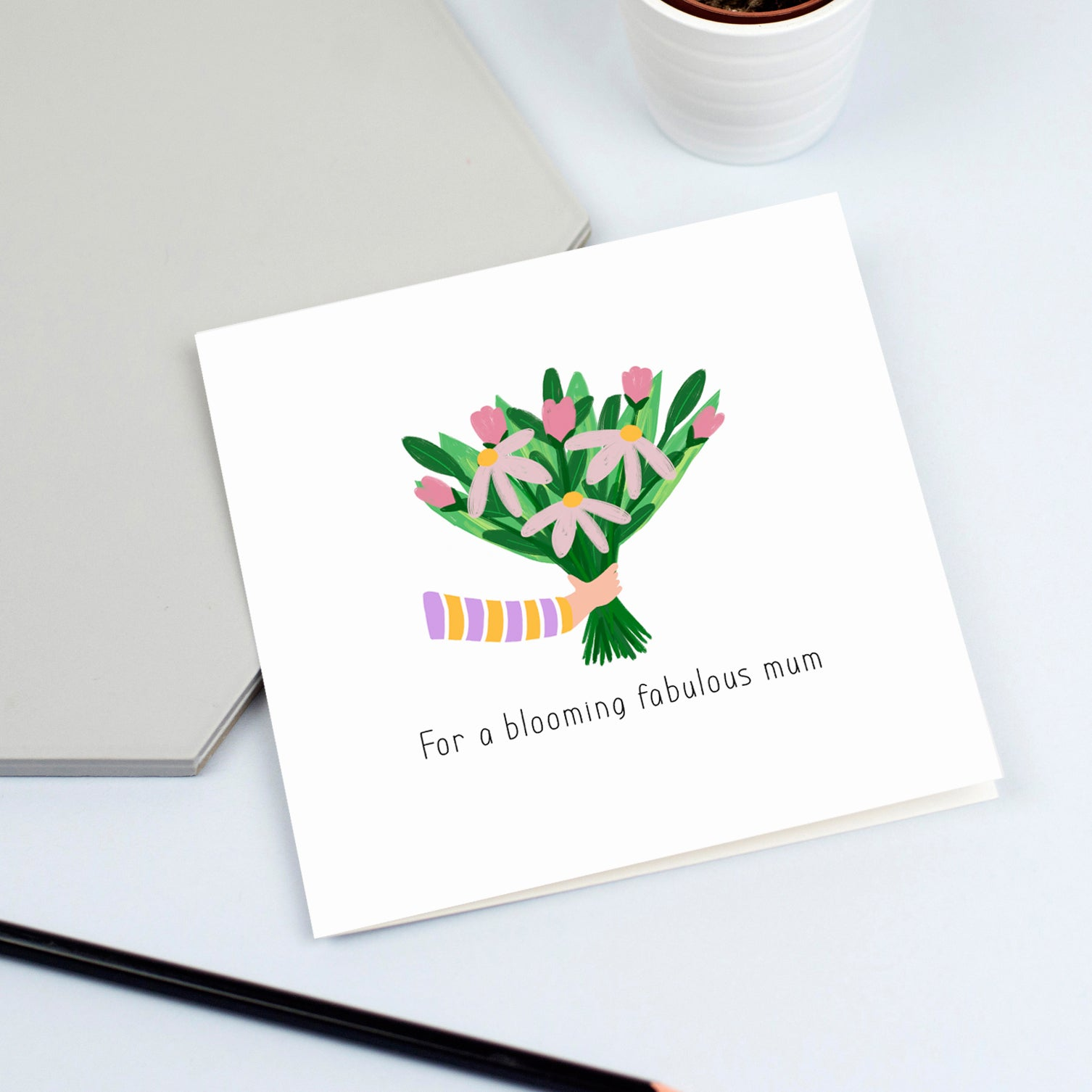 blooming fabulous mum card