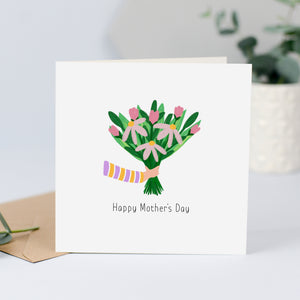 Mother's Day card with flowers