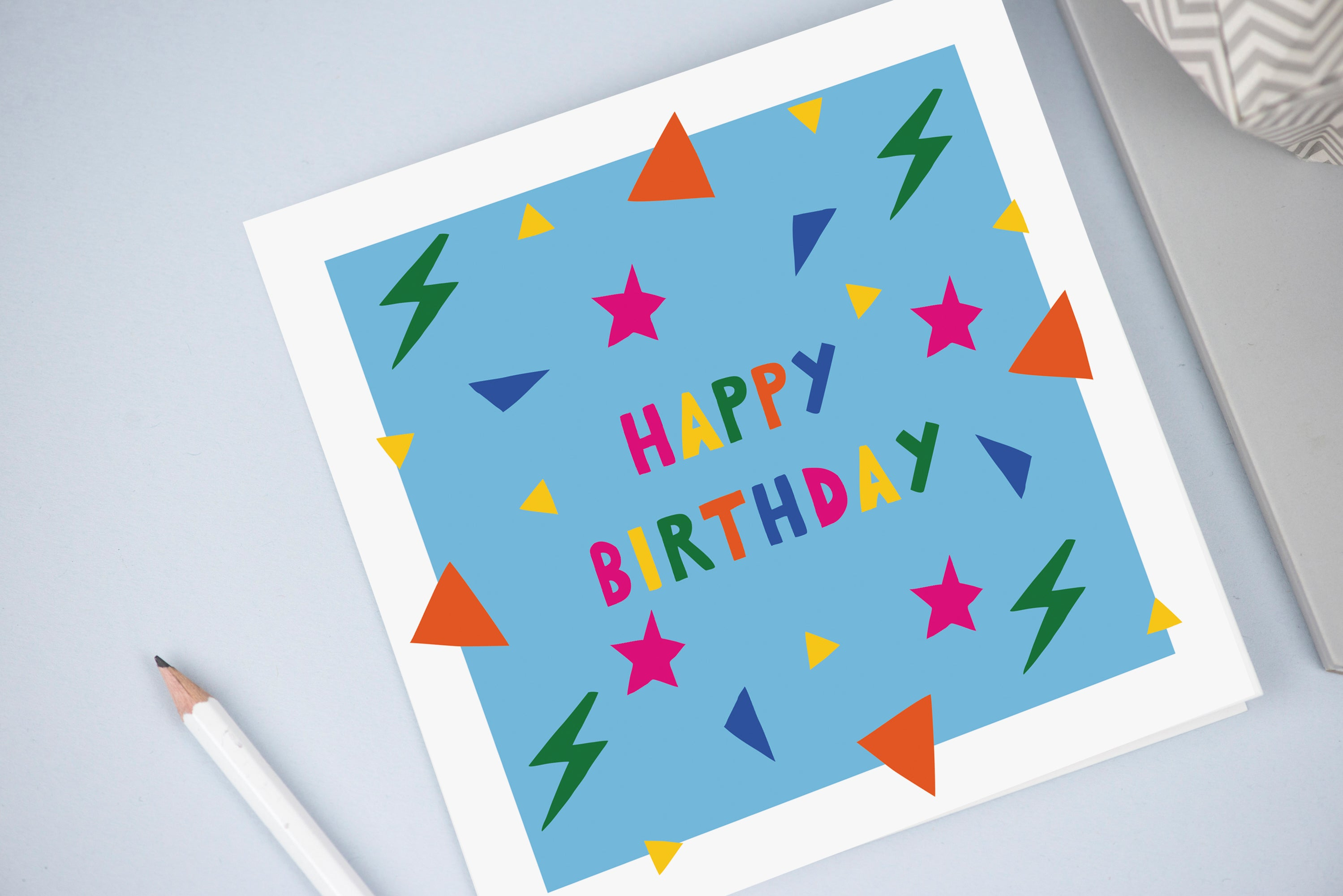 Children's birthday Card blue