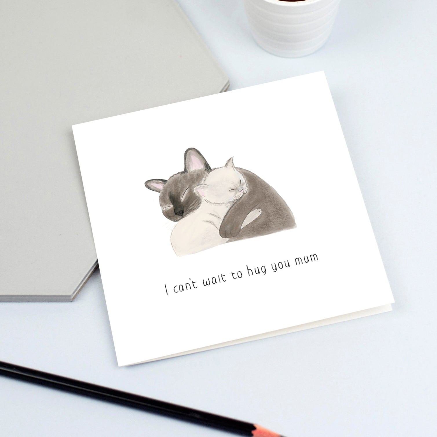 Cats cuddling card (Pick your own caption)