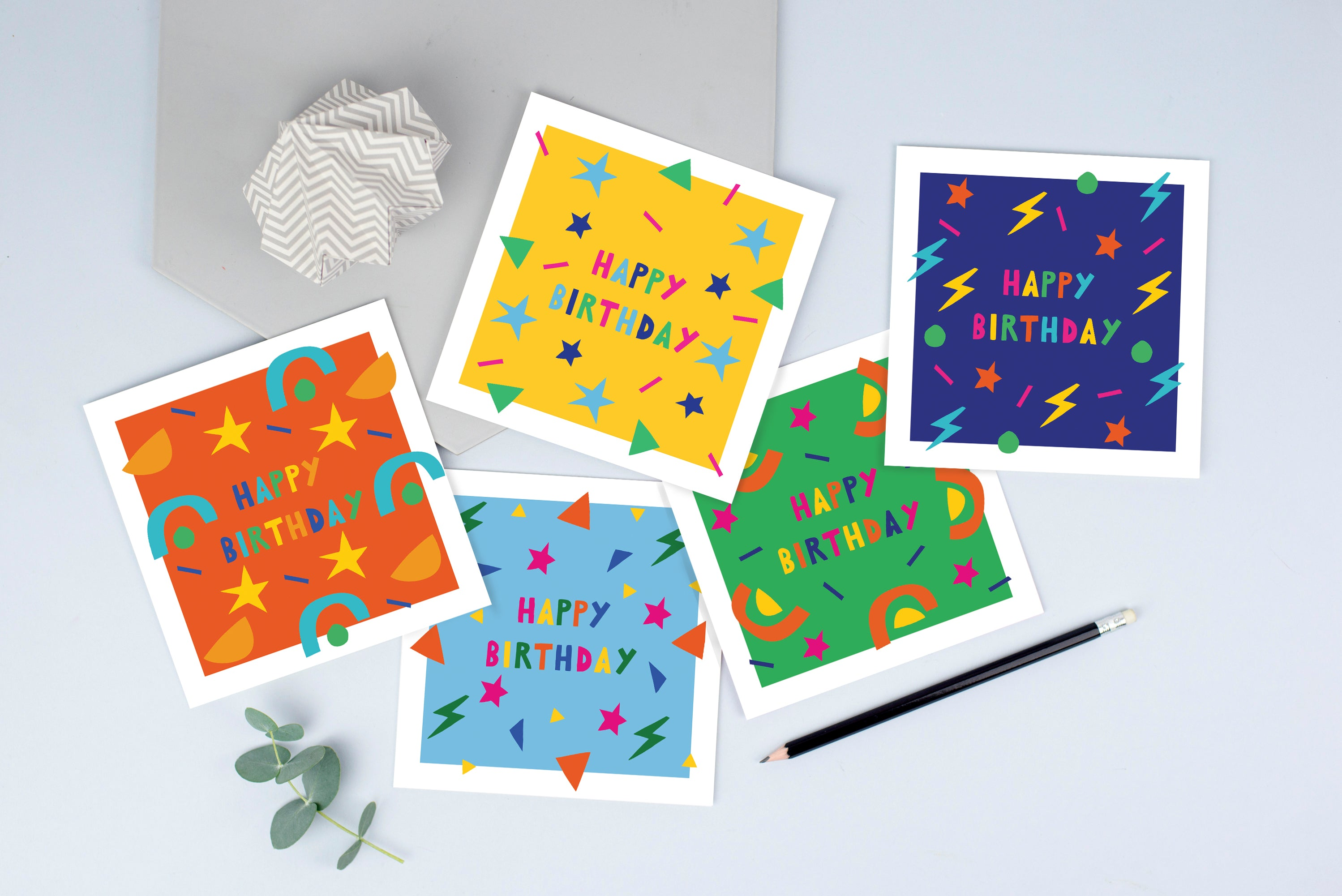 Pack of children's birthday cards