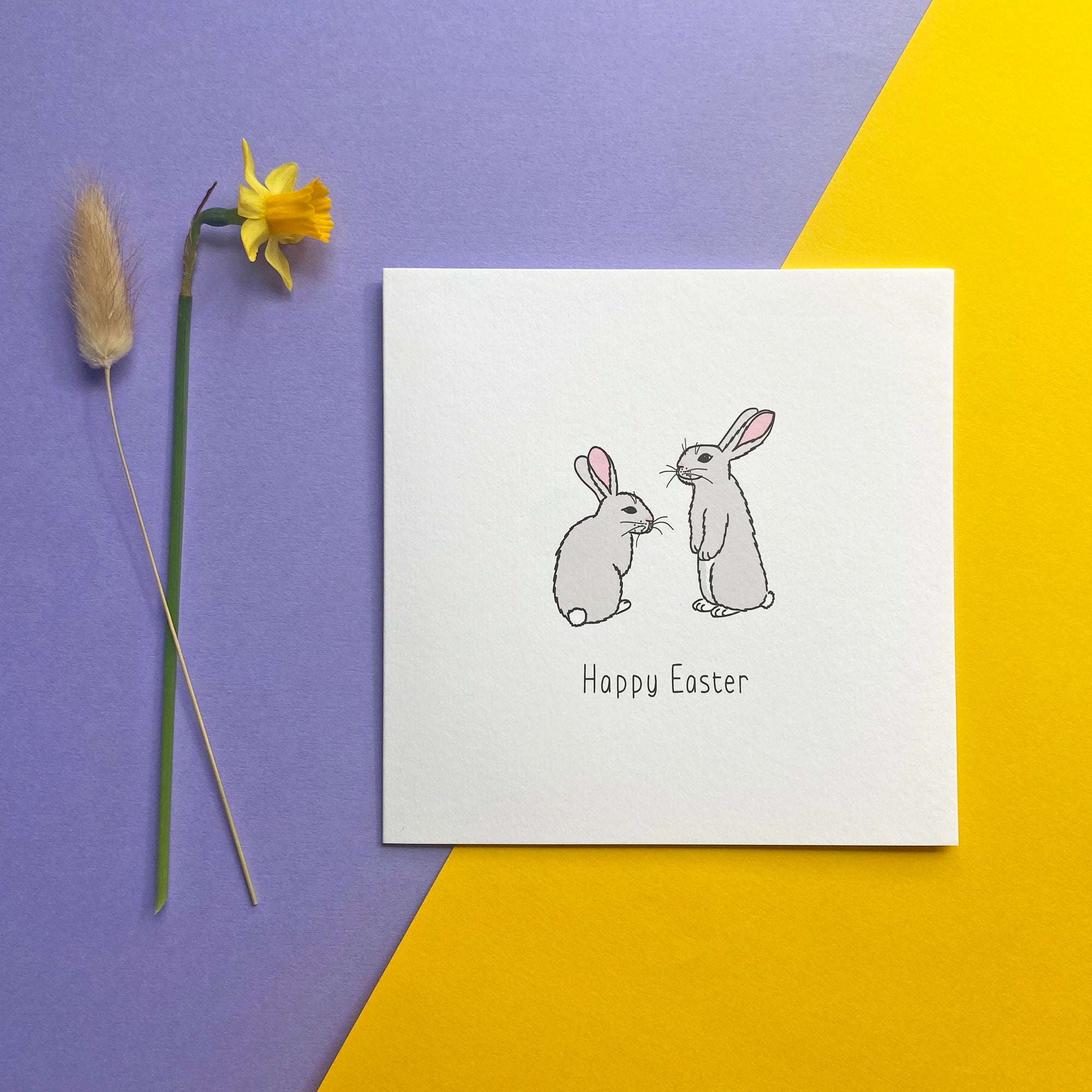 Easter card with bunnies