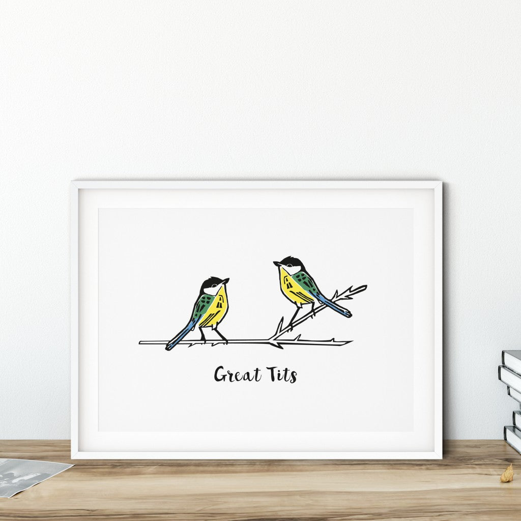 Great Tits Print (Unframed)