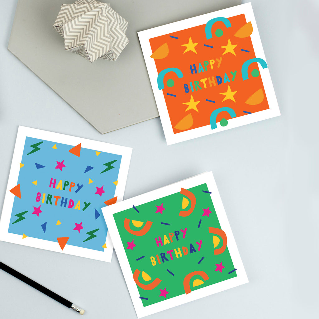 Children's birthday cards pack