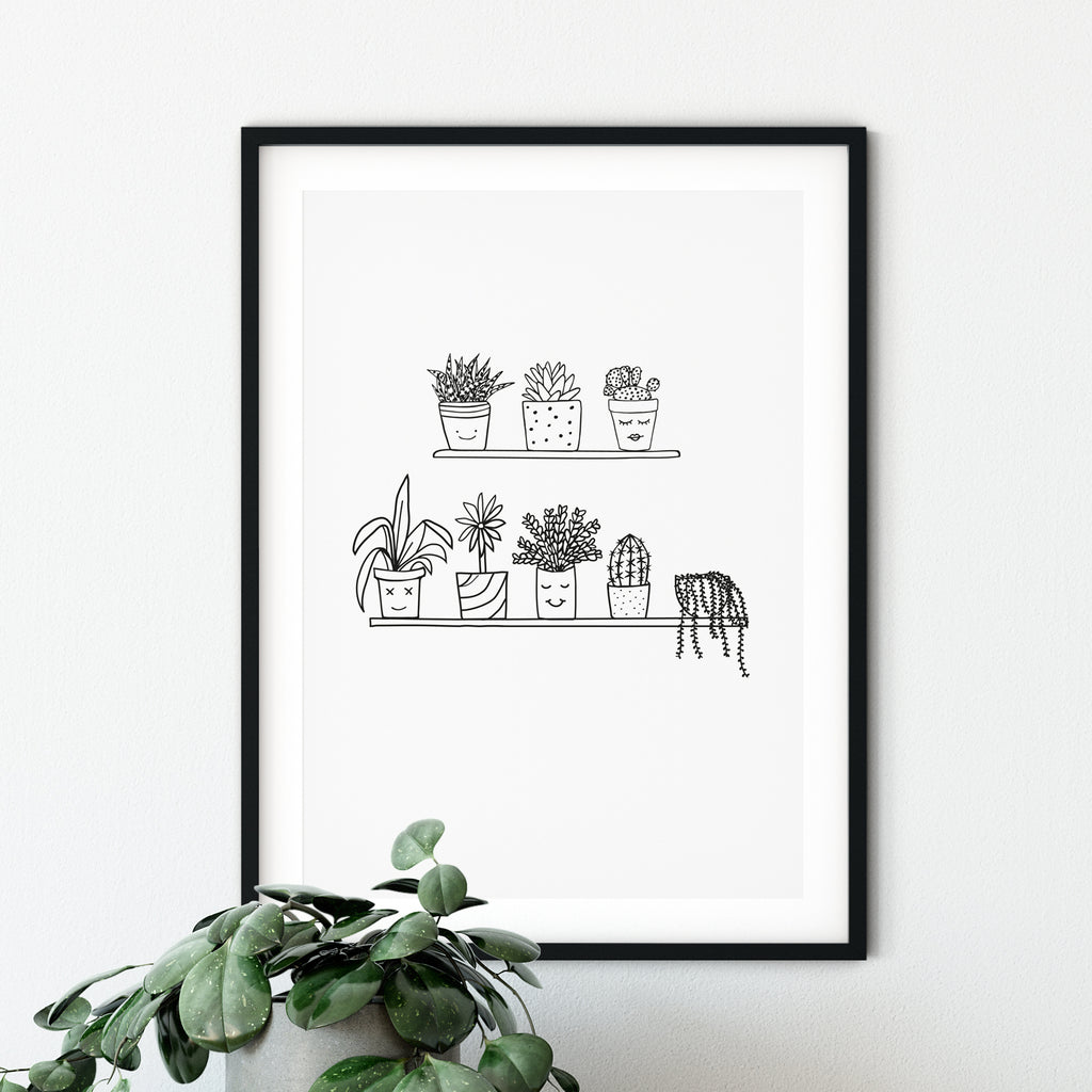 House Plant Illustration (Unframed)