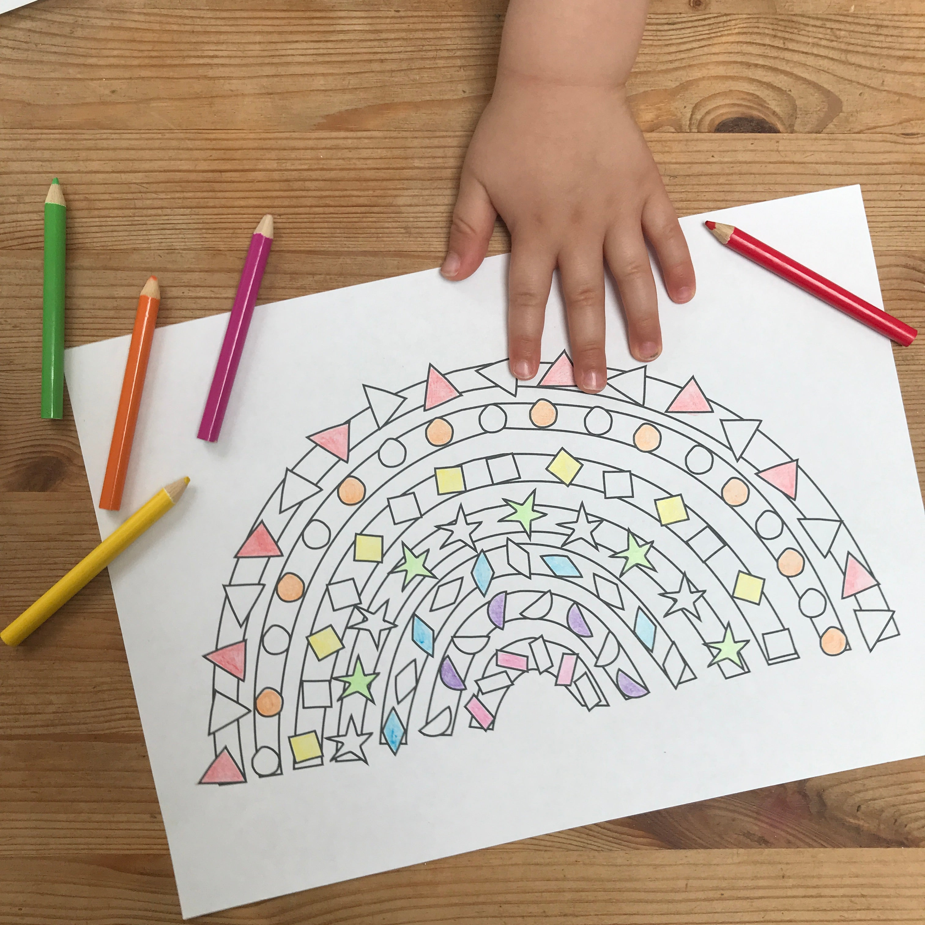 Rainbow Colouring In Download-FREE