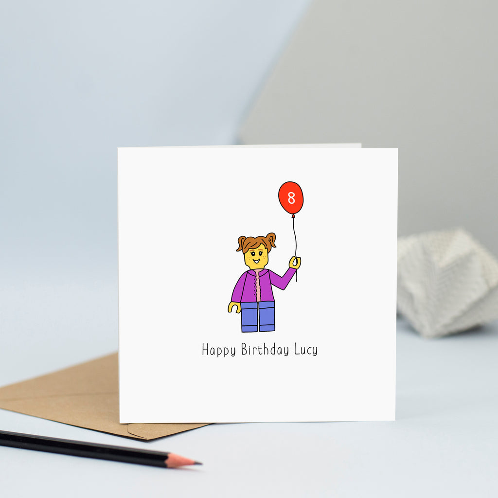 Lego card for girl