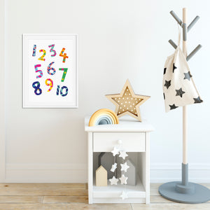 Numbers Print (Unframed)