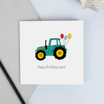Green Tractor birthday card
