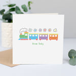 Personalised thank you cards - Train