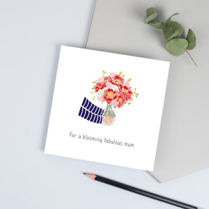 Vase of flowers card (Pick your own caption)