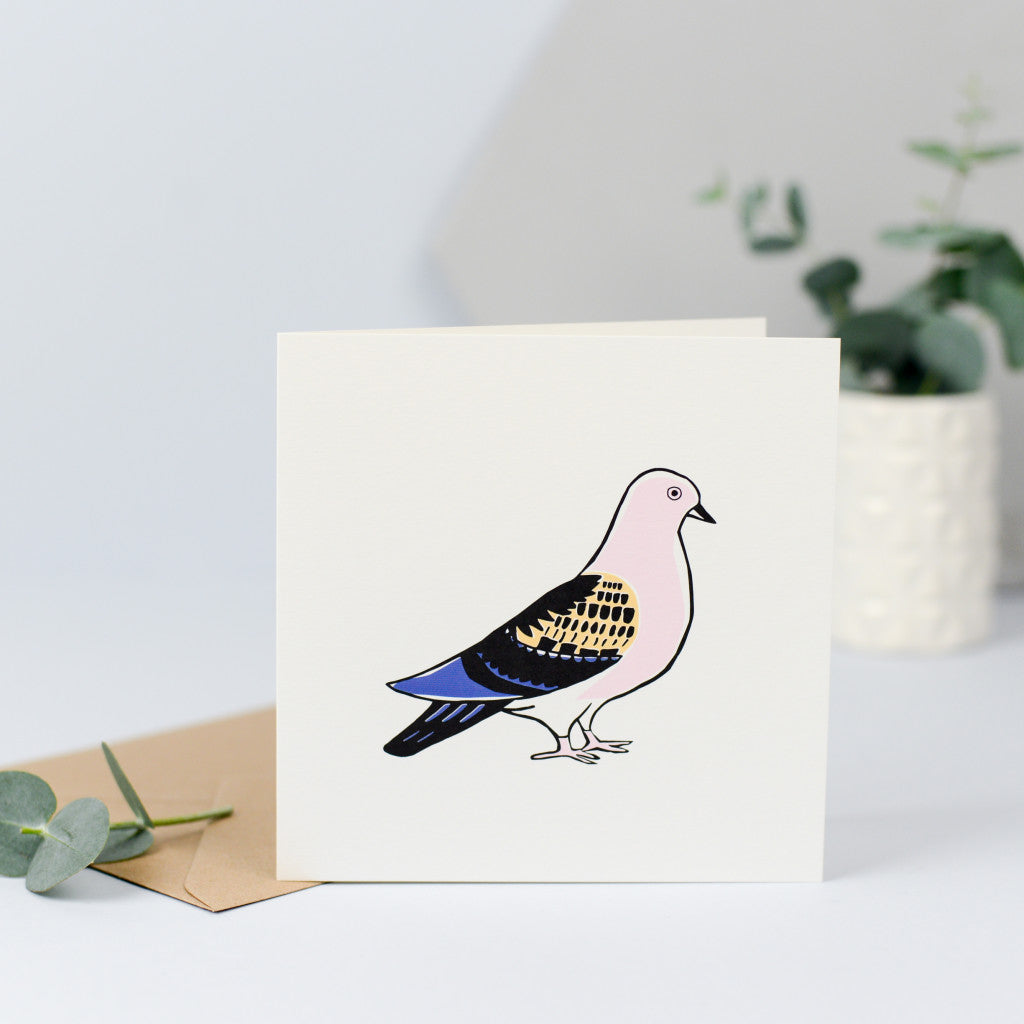 A simple illustration of a pigeon, perfect for sending on any occasion.
