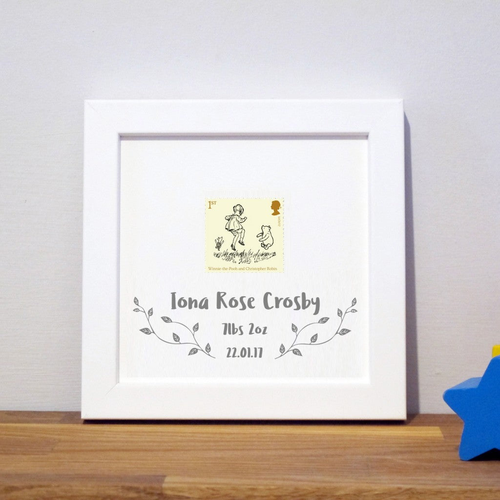 Personalised Children's stamp print (Framed)