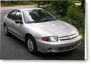 2003 Chevy Cavalier Passager Side Front - Greeting Card
