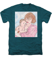 A Mother Holding Her Son - Men's Premium T-Shirt