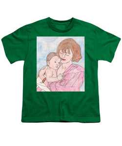 A Mother Holding Her Son - Youth T-Shirt