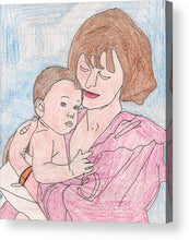 A Mother Holding Her Son - Acrylic Print