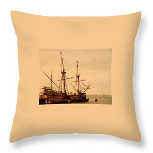 A Small Old Clipper Ship - Throw Pillow