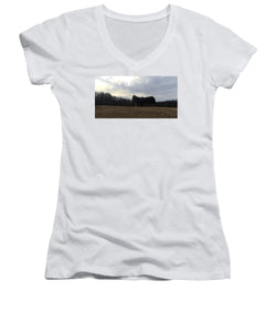 After A Stormy Day - Women's V-Neck (Athletic Fit)