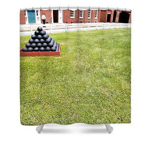 Are There Enough Cannonballs - Shower Curtain