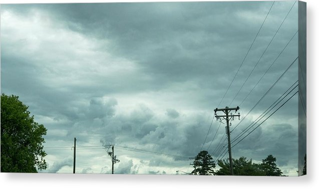 Artwork In Clouds From God - Canvas Print