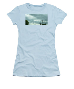 Artwork In Clouds From God - Women's T-Shirt (Athletic Fit)