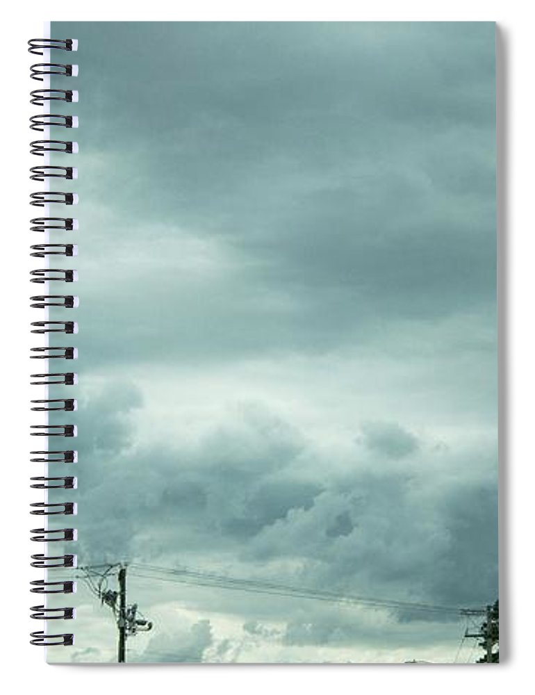 Artwork In Clouds From God - Spiral Notebook