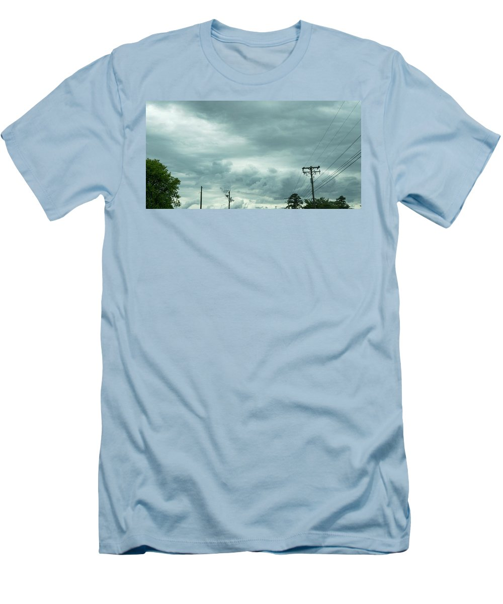 Artwork In Clouds From God - Men's T-Shirt (Athletic Fit)