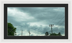 Artwork In Clouds From God - Framed Print