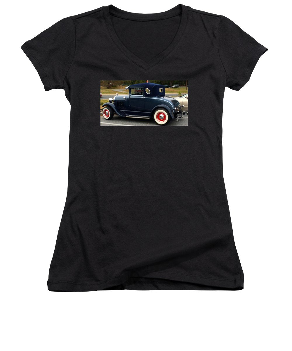 Beautiful Classic Car - Women's V-Neck (Athletic Fit)