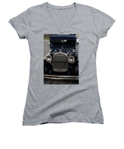 Beautiful Classic Car Front View - Women's V-Neck (Athletic Fit)