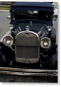 Beautiful Classic Car Front View - Greeting Card