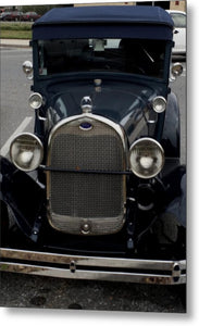 Beautiful Classic Car Front View - Metal Print