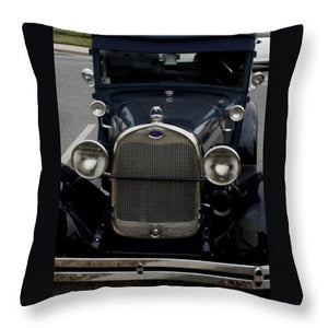 Beautiful Classic Car Front View - Throw Pillow