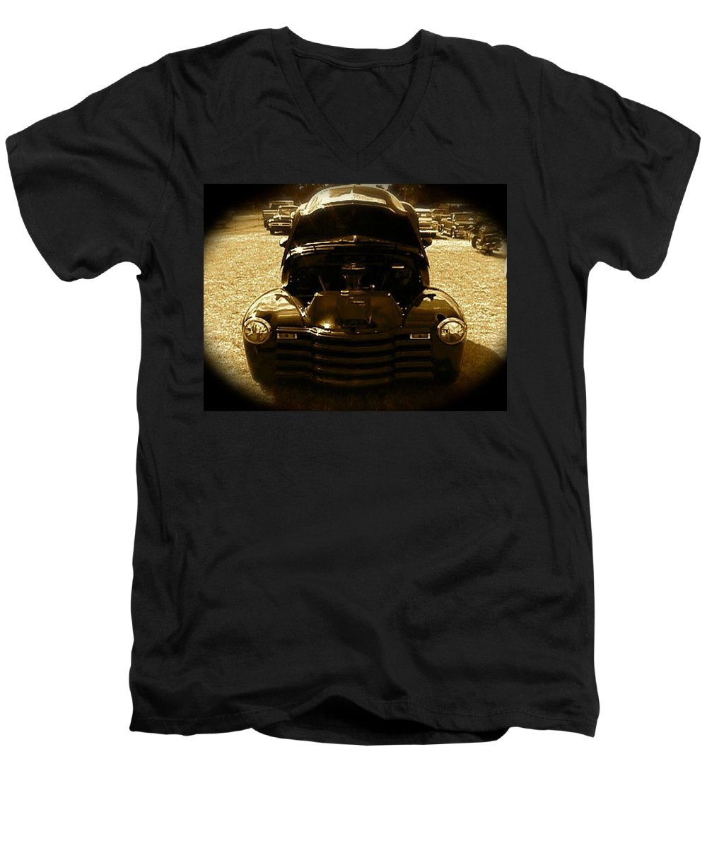 Black Pickup Truck - Men's V-Neck T-Shirt
