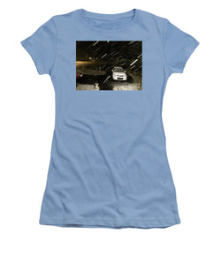 Blizzard In Delaware - Women's T-Shirt (Athletic Fit)