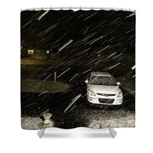 Blizzard In Delaware - Shower Curtain