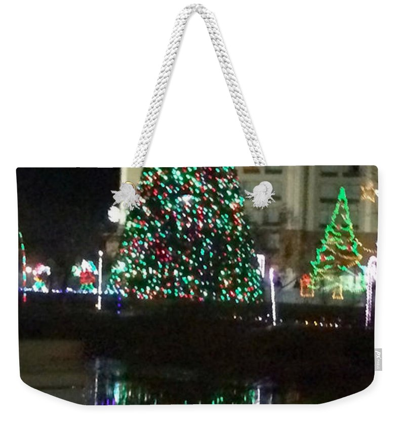 Christmas Tree Reflection - Weekender Tote Bag